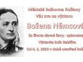 """Pozvánka na výstavu """"Božena Němcová"""" 1"""