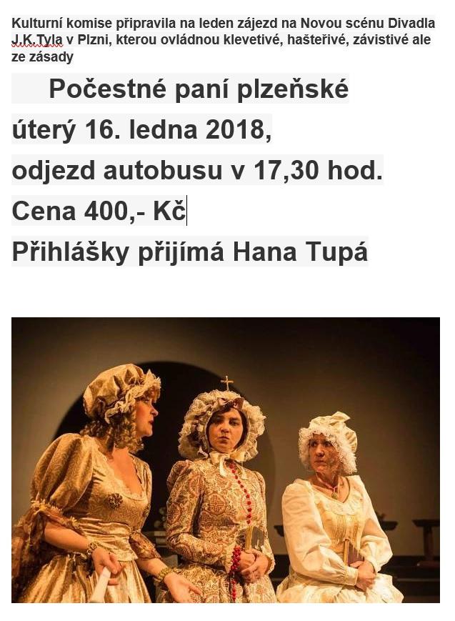 Zájezd na Novou scénu Divadla J.K.Tyla v Plzni 1