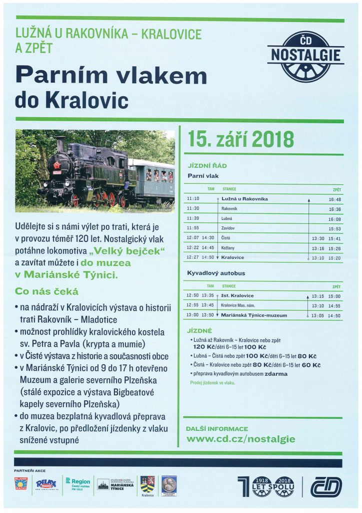 Parním vlakem do Kralovic a zpět 1