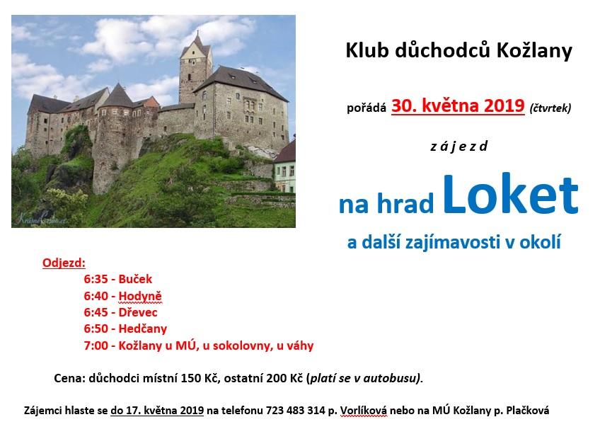 Zájezd na hrad Loket 1